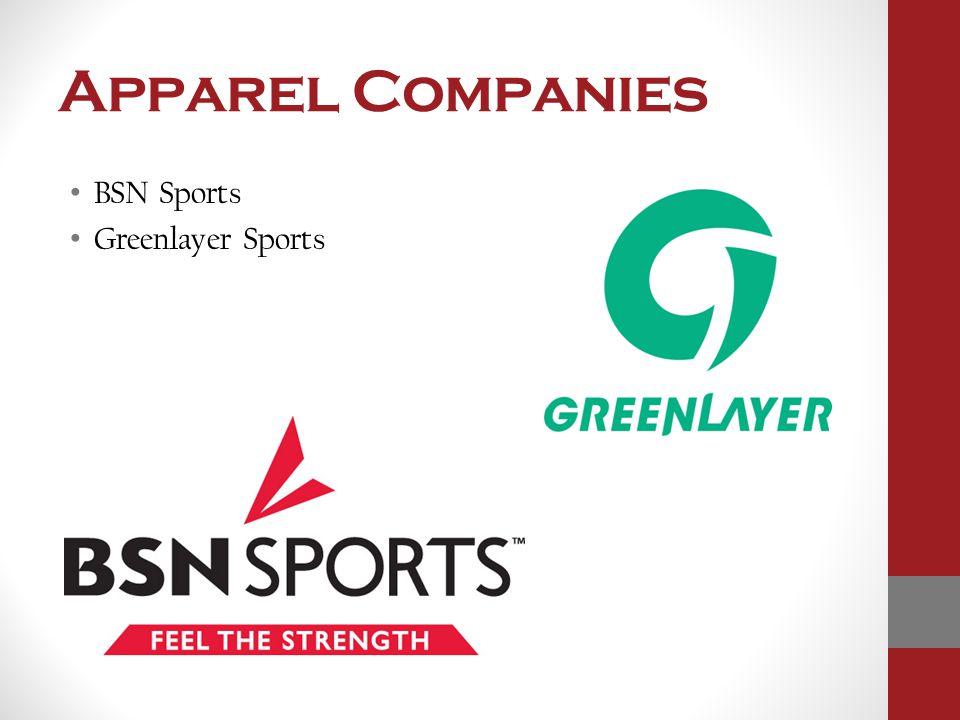 Apparel Companies BSN Sports Greenlayer Sports