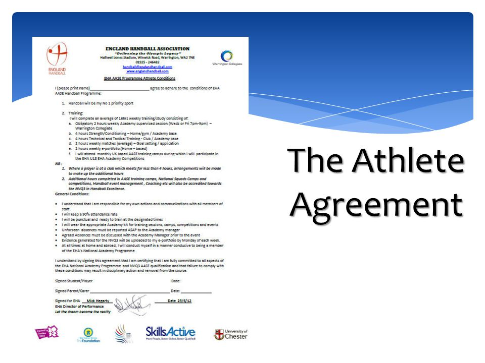 The Athlete Agreement
