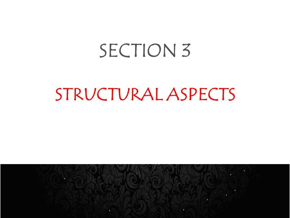 SECTION 3 STRUCTURAL ASPECTS