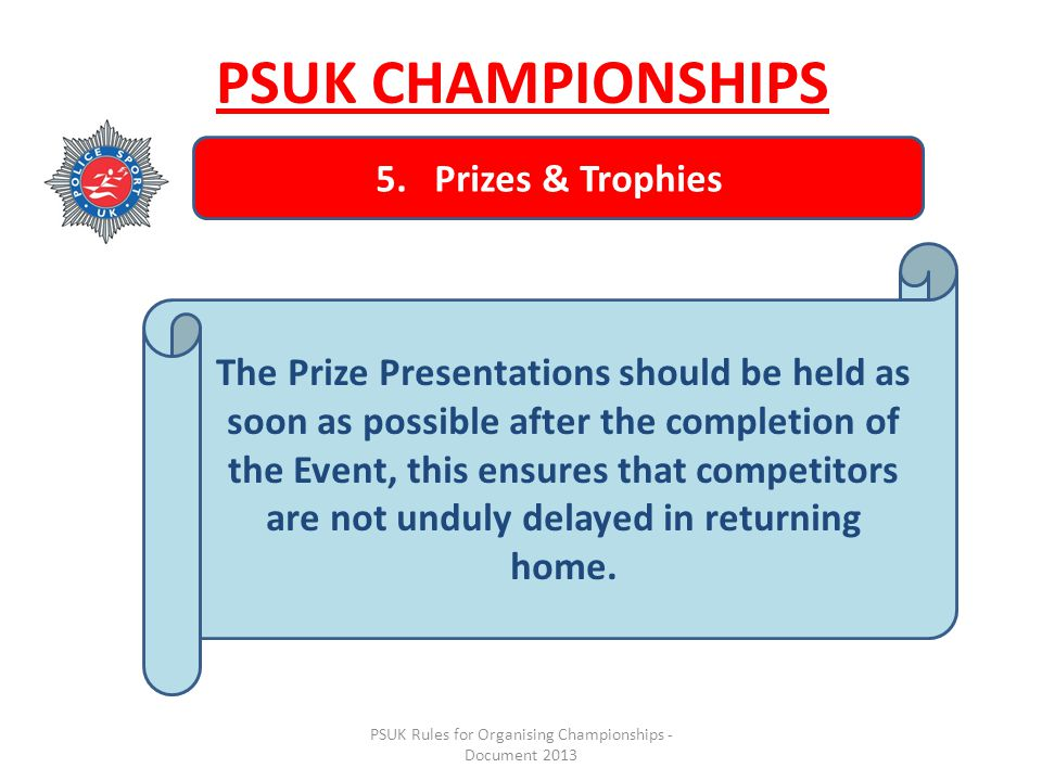 PSUK Rules for Organising Championships - Document 2013 5.