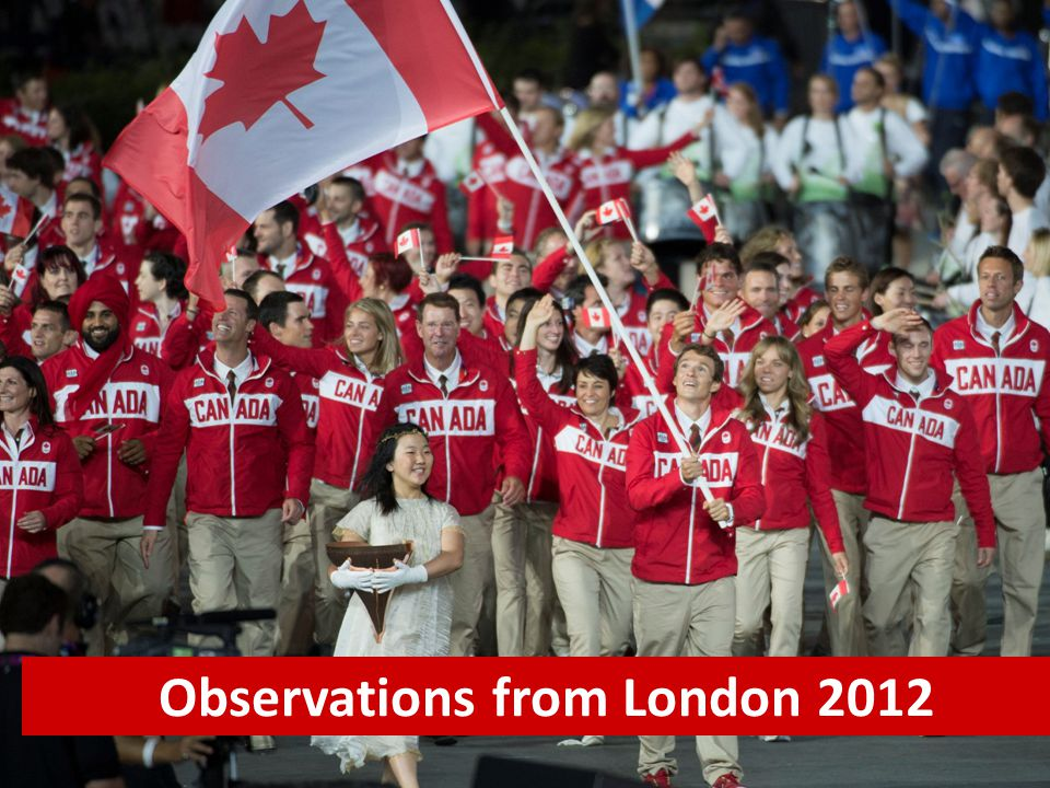 Observations from London 2012