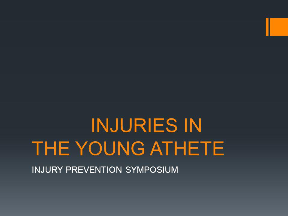 The heightened intensity of training and competition among young athletes places them at increased risk for both acute and chronic injuries
