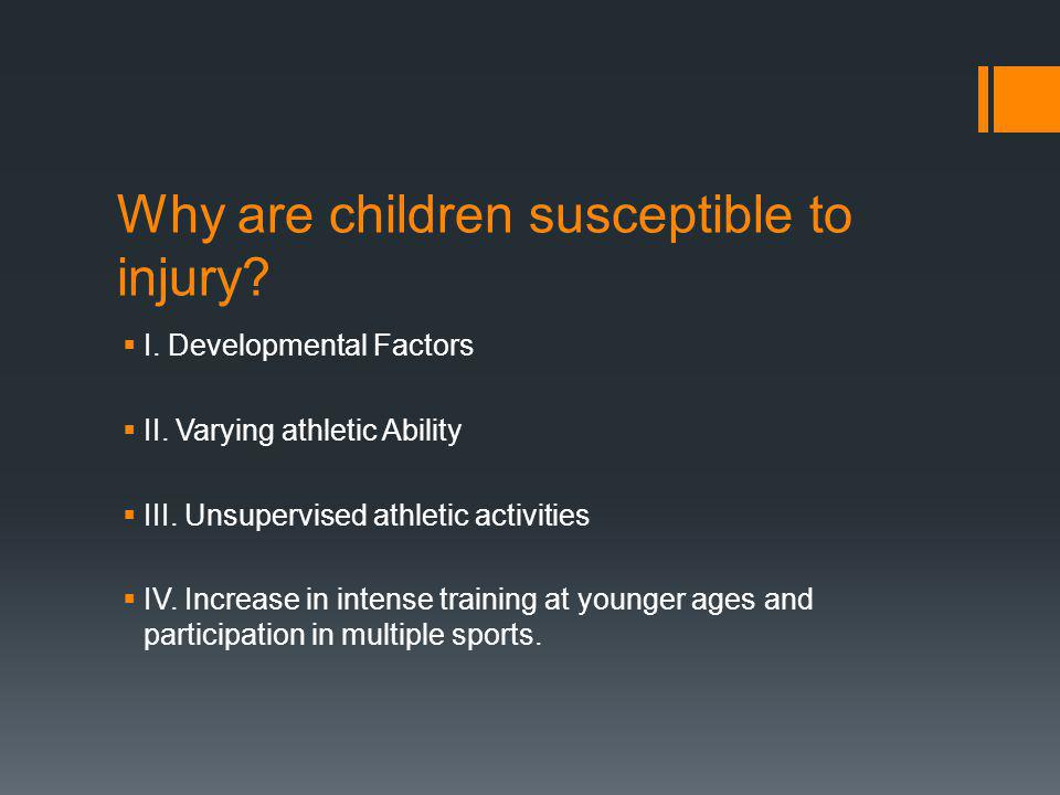 INJURY PREVENTION Prepare for you sport, both physically and mentally Weekend warrior syndrome eg.