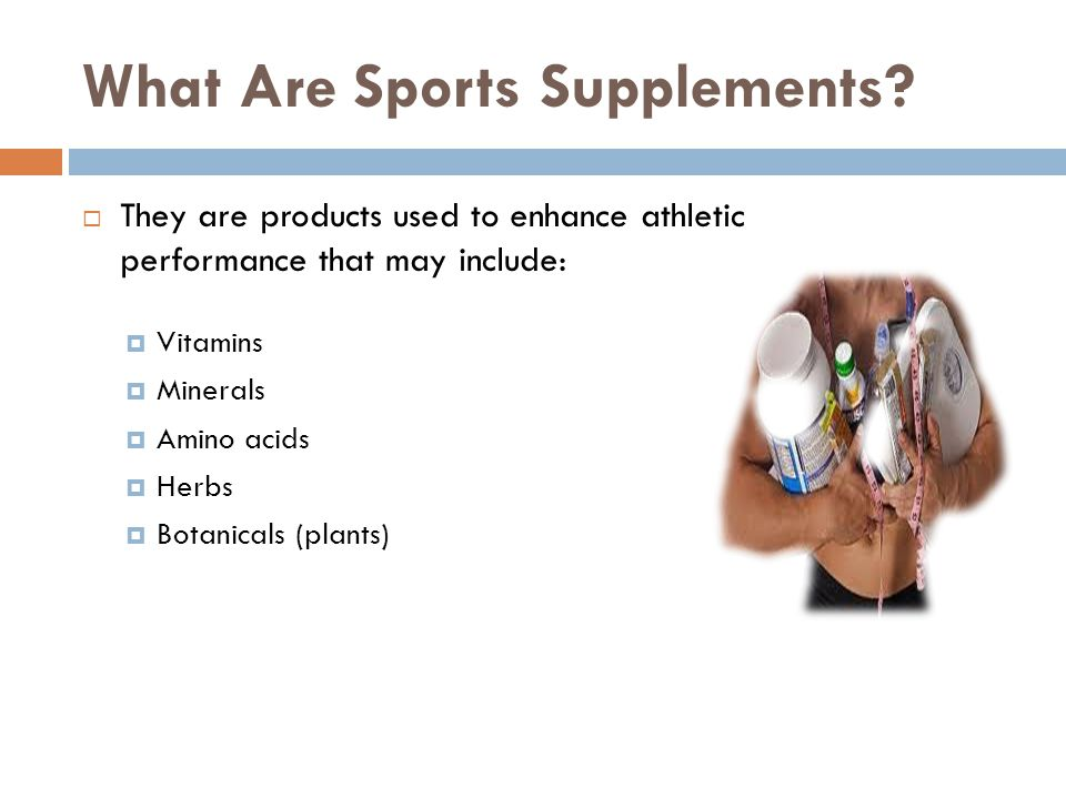 What Are Sports Supplements.