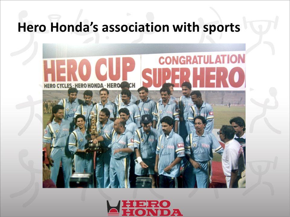 Hero Hondas association with sports