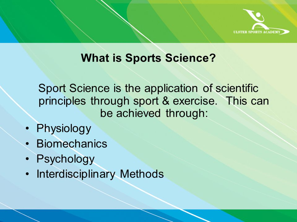 What is Sports Science.