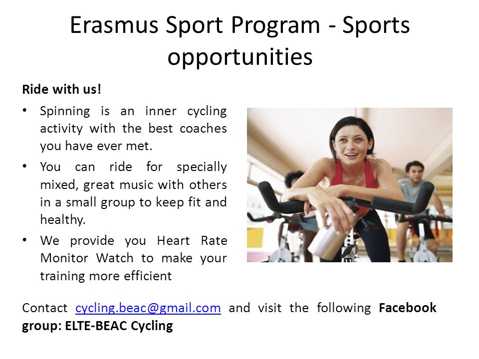 Erasmus Sport Program - Sports opportunities Find a creative hobby in our dance section.