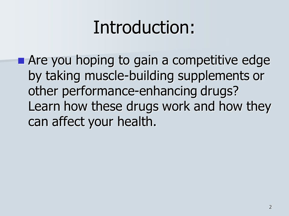 Introduction: Are you hoping to gain a competitive edge by taking muscle-building supplements or other performance-enhancing drugs.