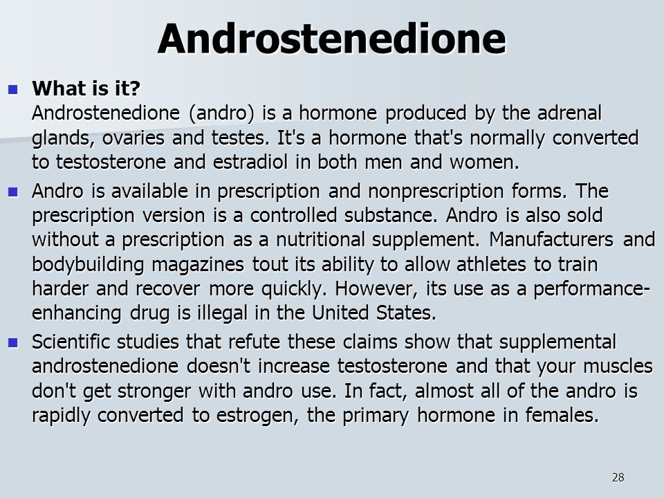 Androstenedione What is it.