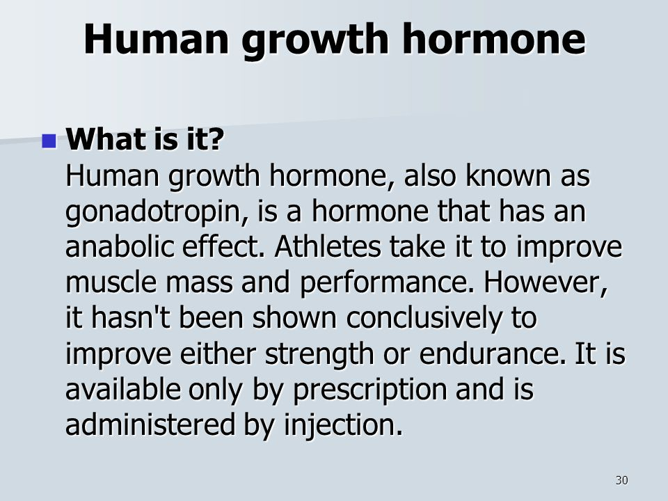 Human growth hormone What is it.