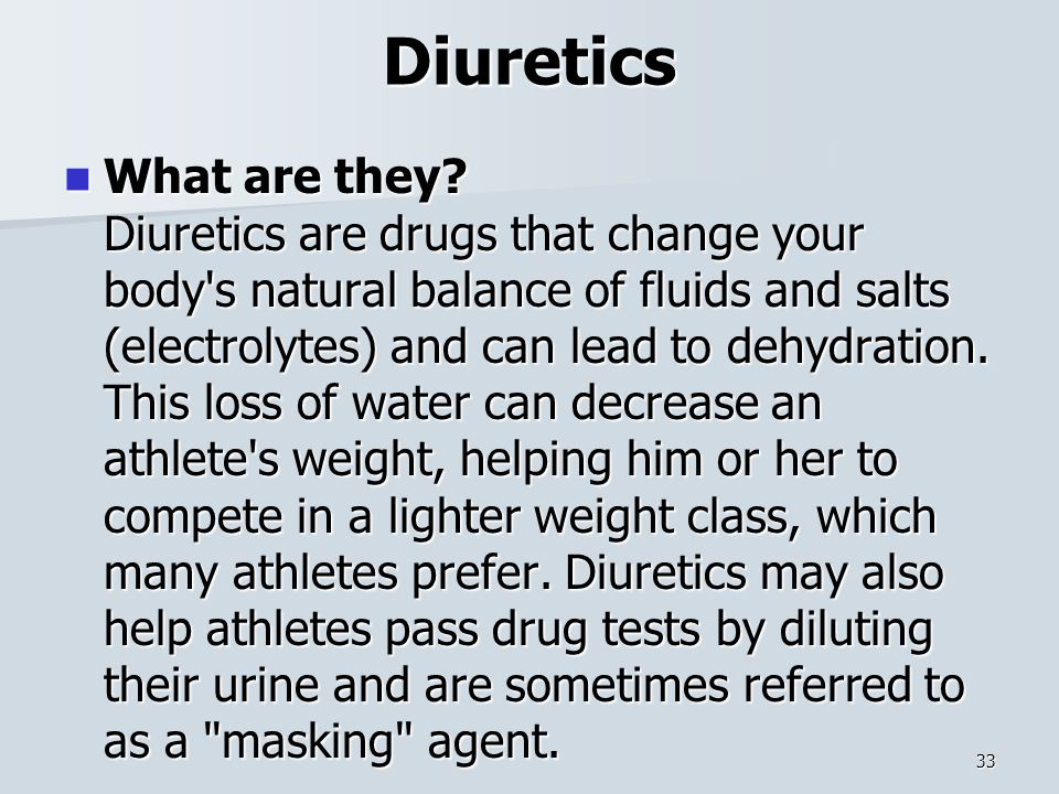 Diuretics What are they.