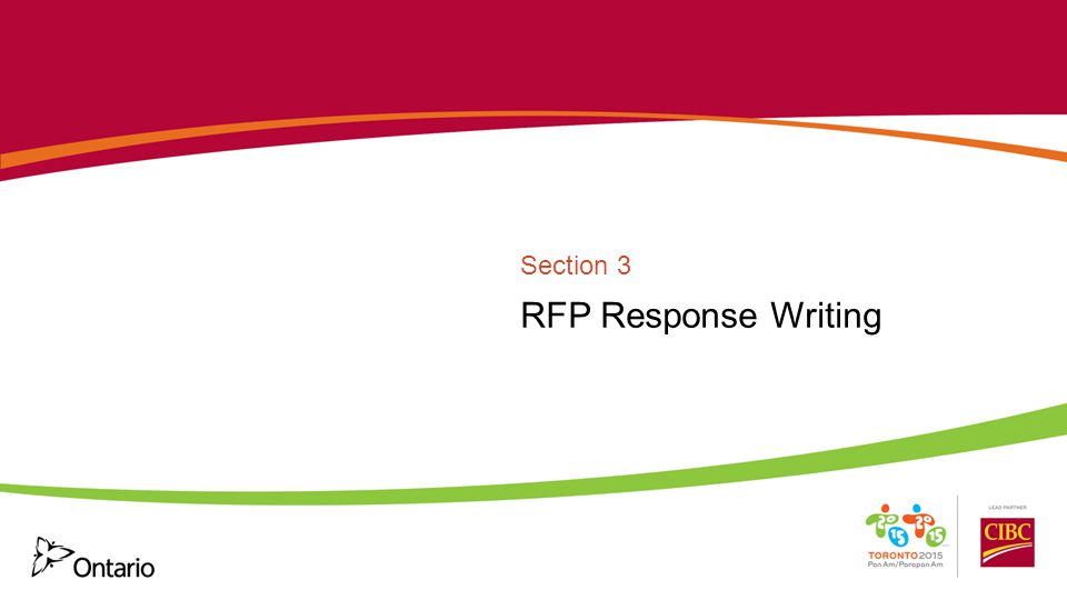 RFP Response Writing Section 3