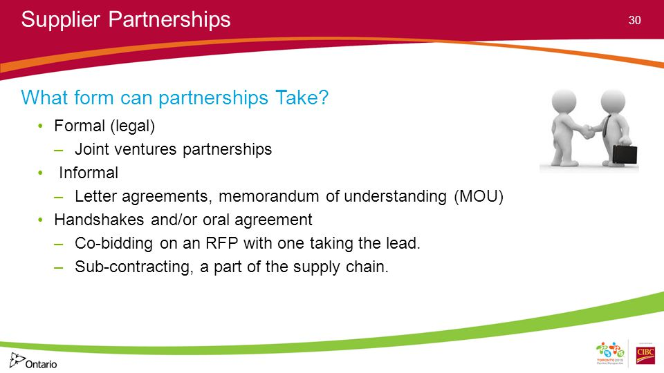 Supplier Partnerships What form can partnerships Take.