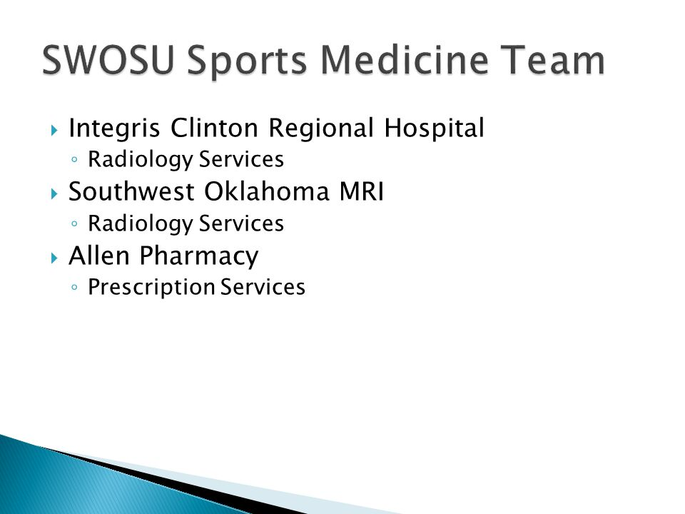Integris Clinton Regional Hospital Radiology Services Southwest Oklahoma MRI Radiology Services Allen Pharmacy Prescription Services
