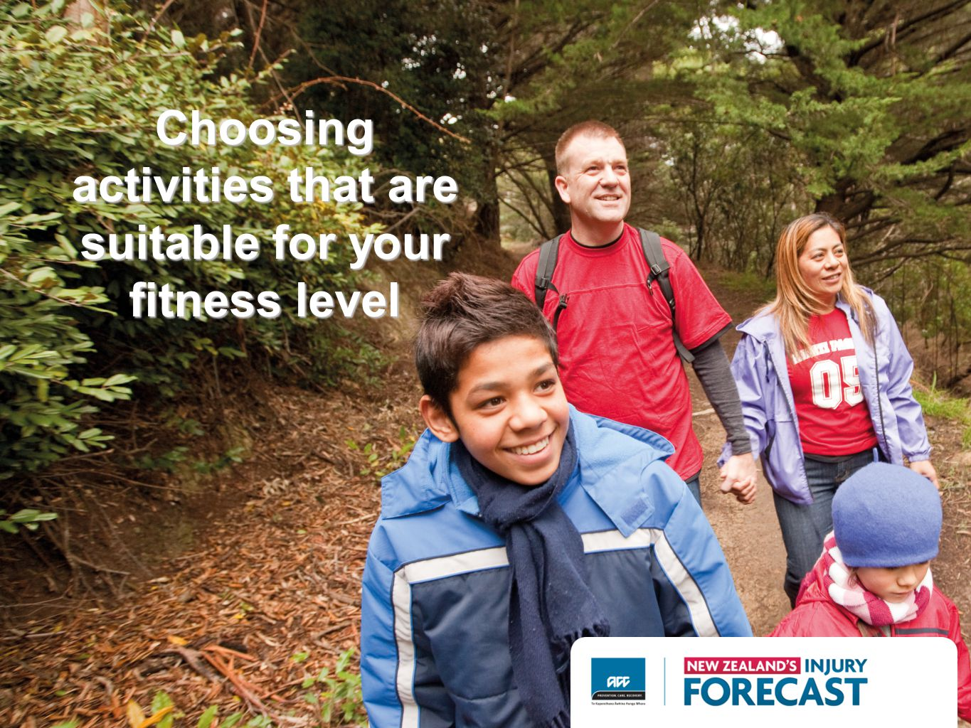Choosing activities that are suitable for your fitness level