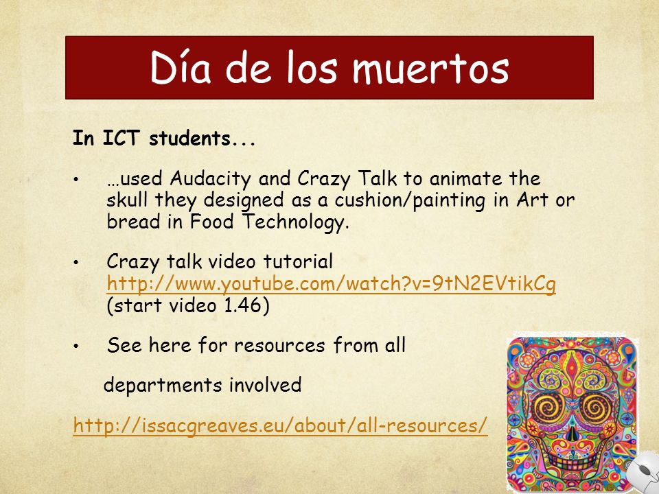 Día de los muertos In ICT students...