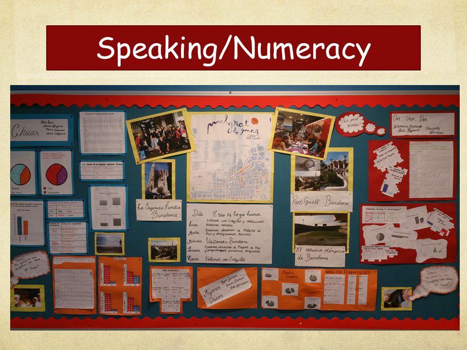 Speaking/Numeracy