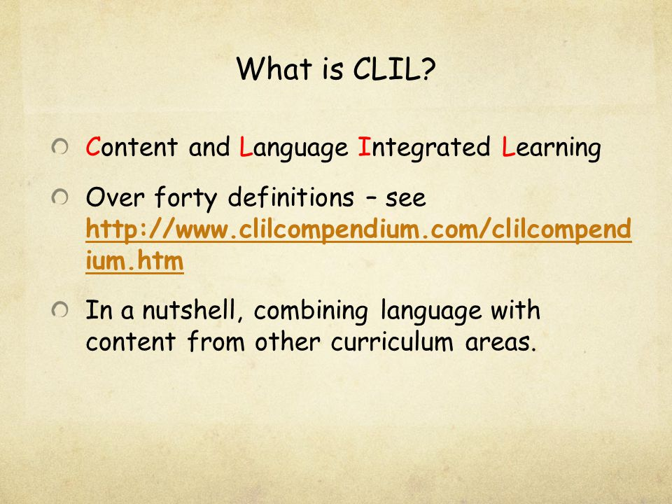What is CLIL.