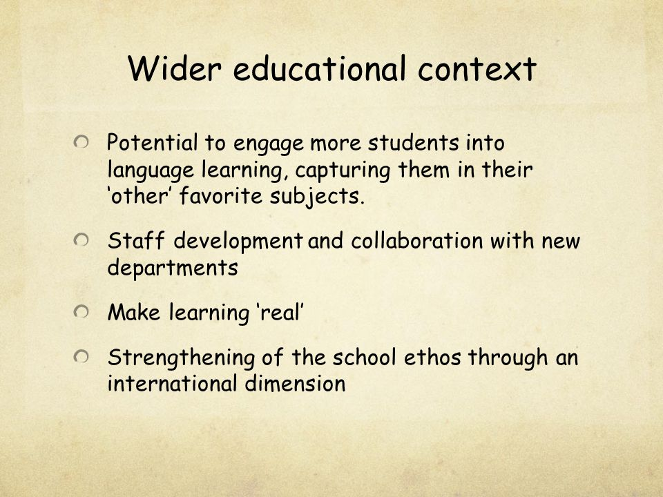 Does Content and Language Integrated Learning (CLIL) in sport and outside of the traditional classroom context play a positive role in year nine female students acquisition of French and their enjoyment of learning it?