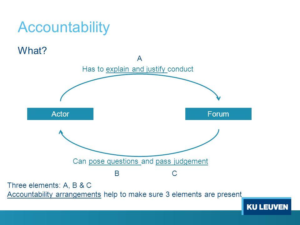 Accountability What.