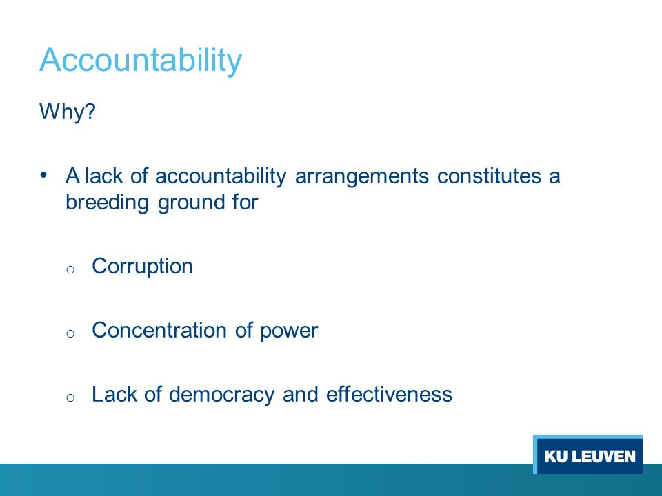 Accountability Why.