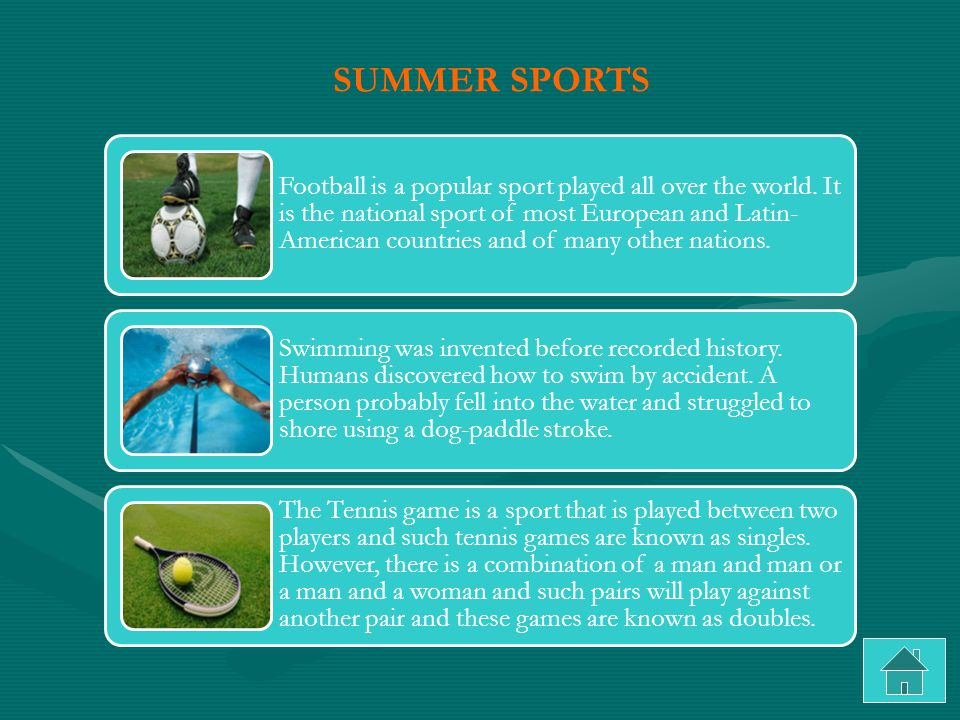 Football is a popular sport played all over the world.