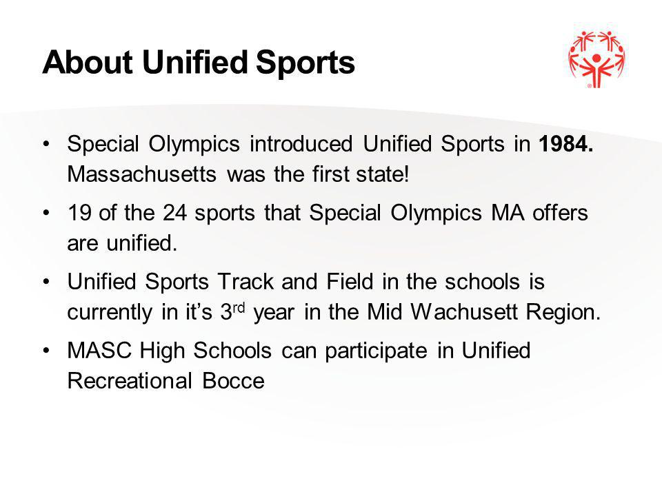 About Unified Sports Special Olympics introduced Unified Sports in 1984.