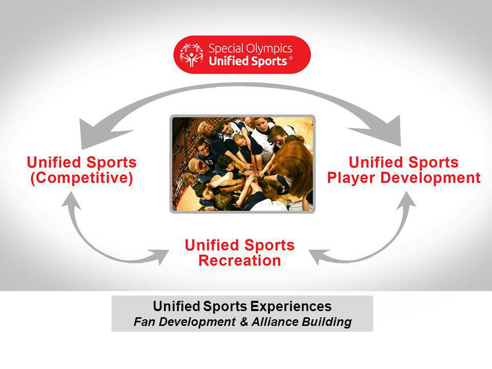 Unified Sports Experiences Fan Development & Alliance Building