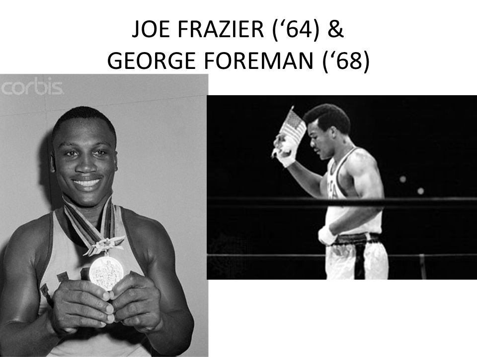 JOE FRAZIER (64) & GEORGE FOREMAN (68)