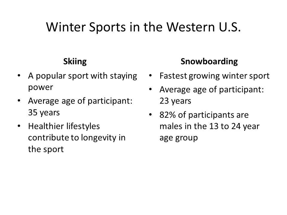 Winter Sports in the Western U.S.