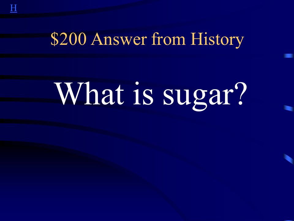 H $200 Question from History Starting in the 16 th century, this was Brazils most important export.