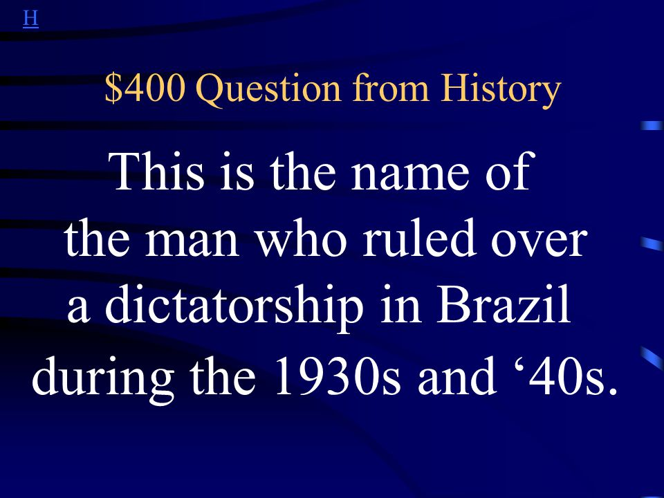 H $300 Answer from History What is slavery?