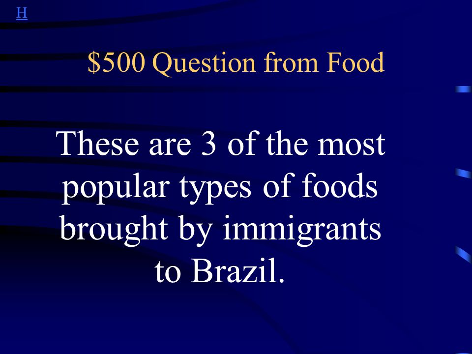 H $400 Answer from Food What is comida à quilo or food by the kilo