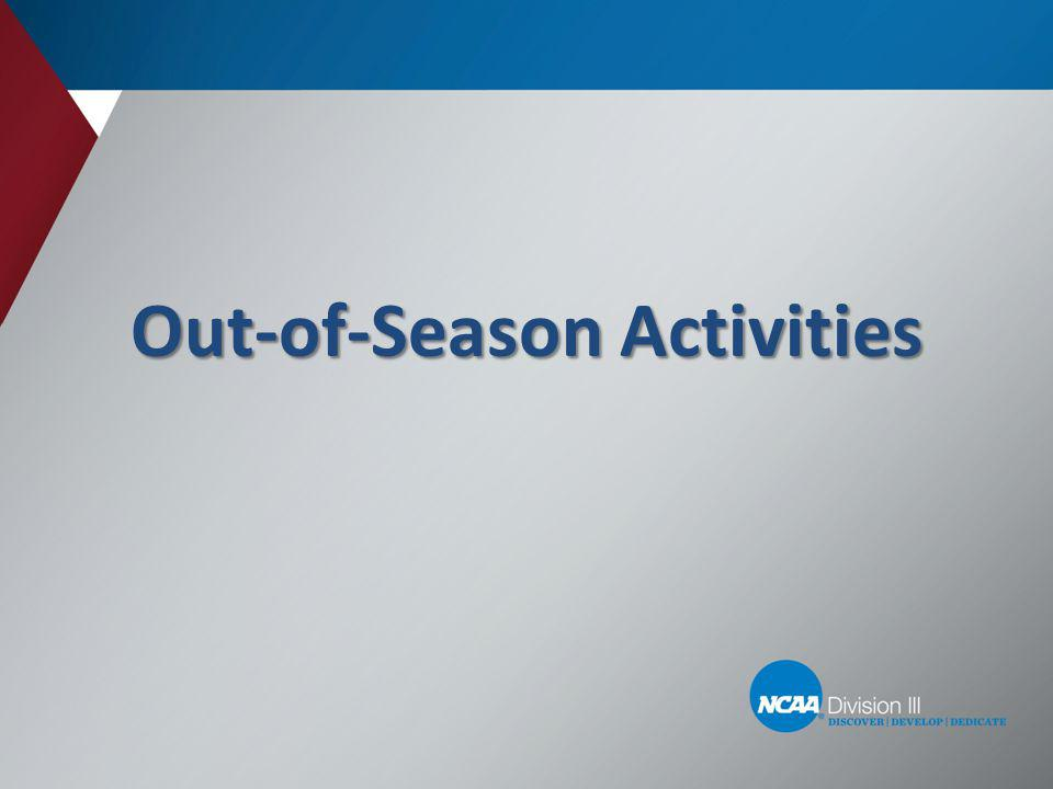 Out-of-Season Activities