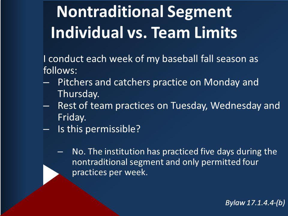 Nontraditional Segment Individual vs.