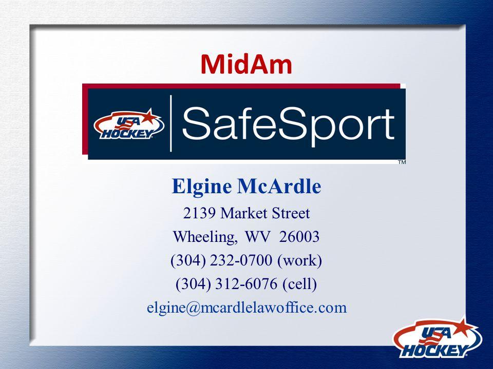 MidAm Elgine McArdle 2139 Market Street Wheeling, WV 26003 (304) 232-0700 (work) (304) 312-6076 (cell) elgine@mcardlelawoffice.com