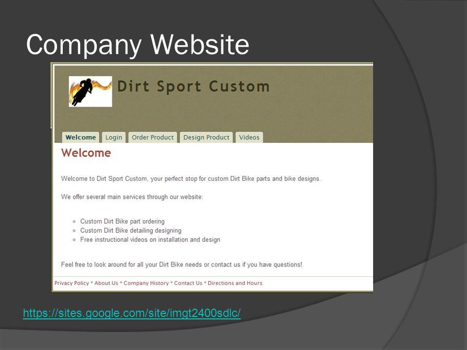 Company Website https://sites.google.com/site/imgt2400sdlc/