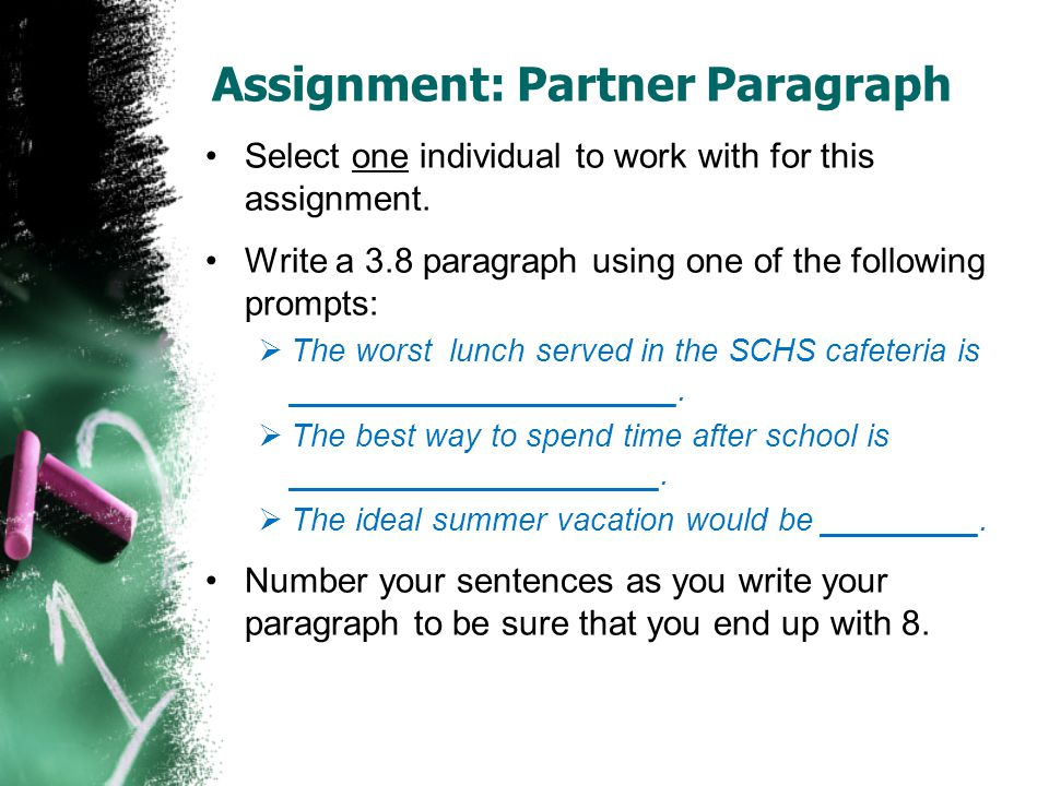 Mini-Speech Assignment We will have our first speaking practice by writing a mini-speech about ourselves.