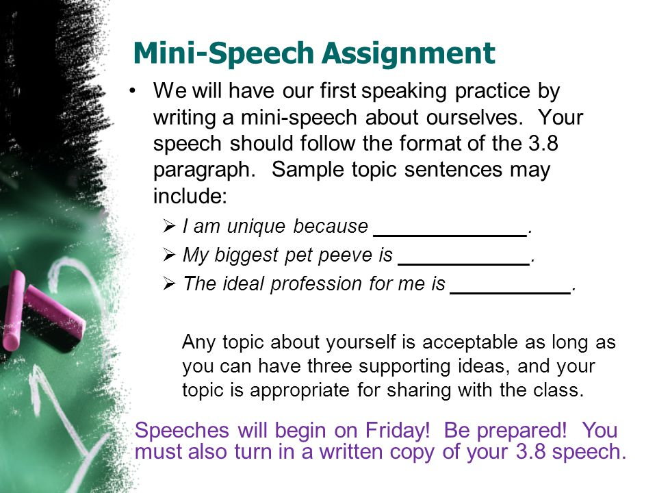 The Structure of the Paragraph Sentence One: The topic sentence that identifies what the paragraph will discuss Sentence Two: Identifies main point number one.