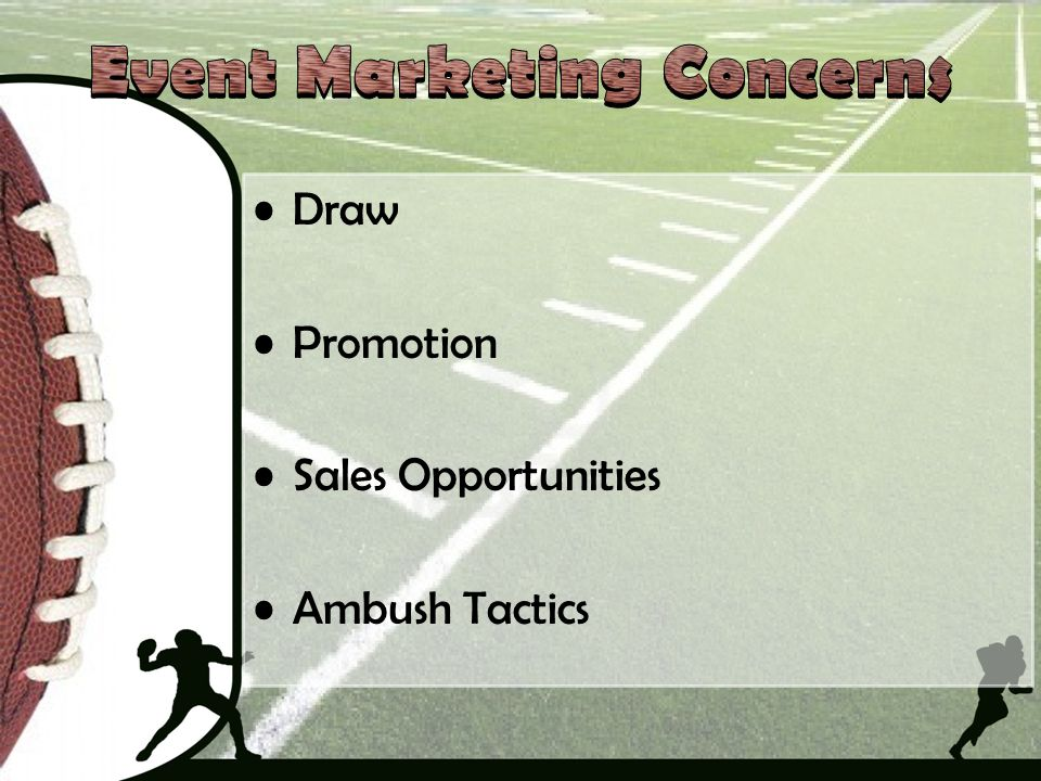 Draw Promotion Sales Opportunities Ambush Tactics