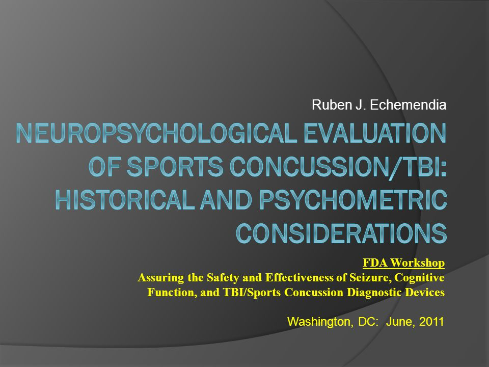 Sports MTBI specific issues Practice Effects Content Practice vs.
