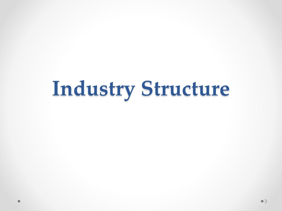 Industry Structure 3