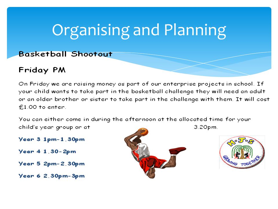 We are holding a Basketball shootout challenge on Friday 15th November with a chance to win - First Prize: £20 JD sports voucher, Second Prize: A Voucher to attend the Cracking Christmas Curries evening, Third Prize: A Basketball All you need to do is shoot as many basketballs into the ring in 1 minute.