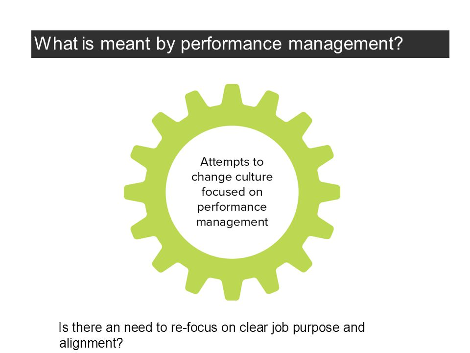 What is meant by performance management.