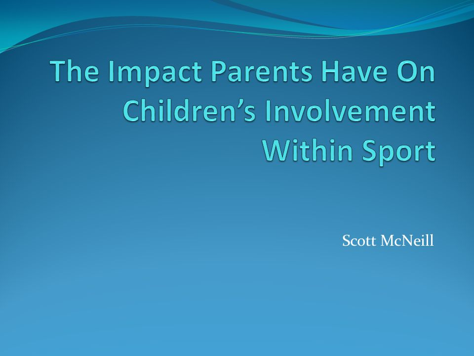 Parents play several roles in youth sport.
