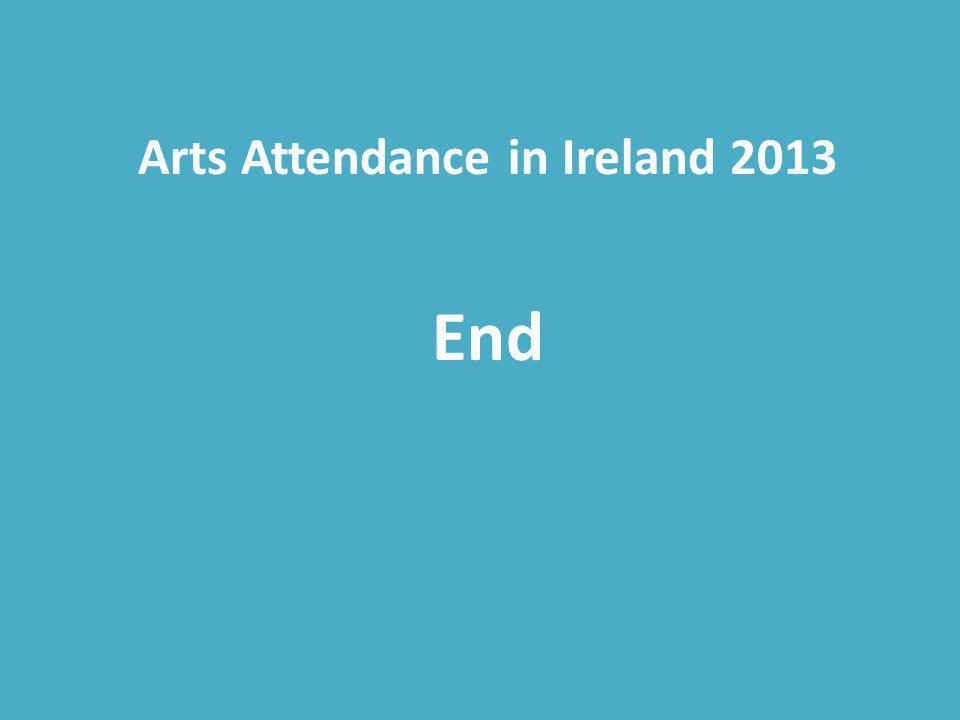 Arts Attendance in Ireland 2013 End
