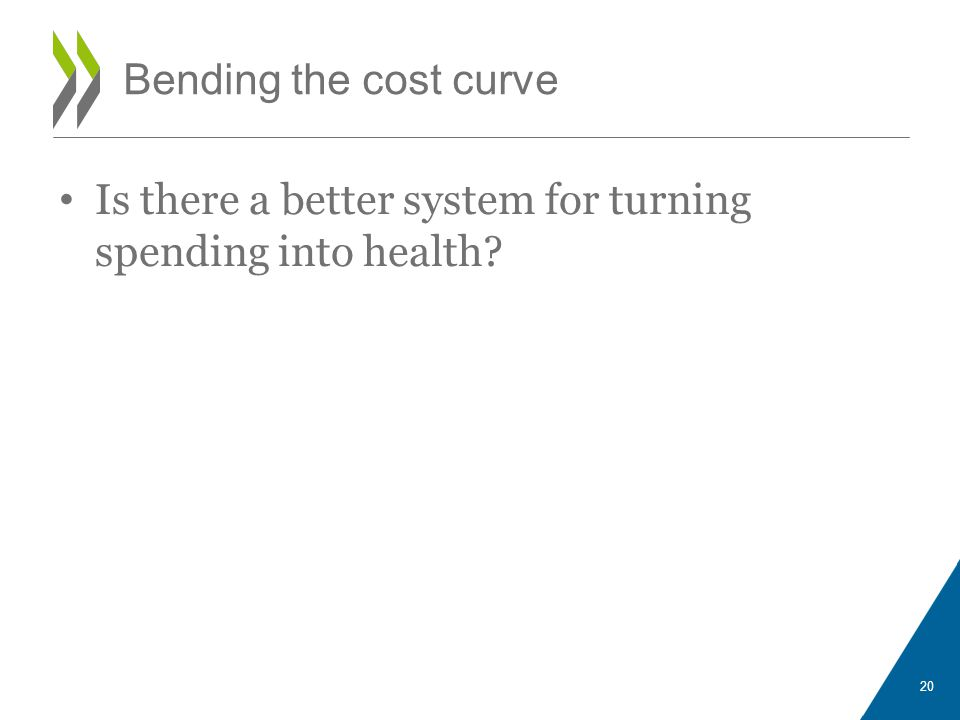 Is there a better system for turning spending into health 20 Bending the cost curve