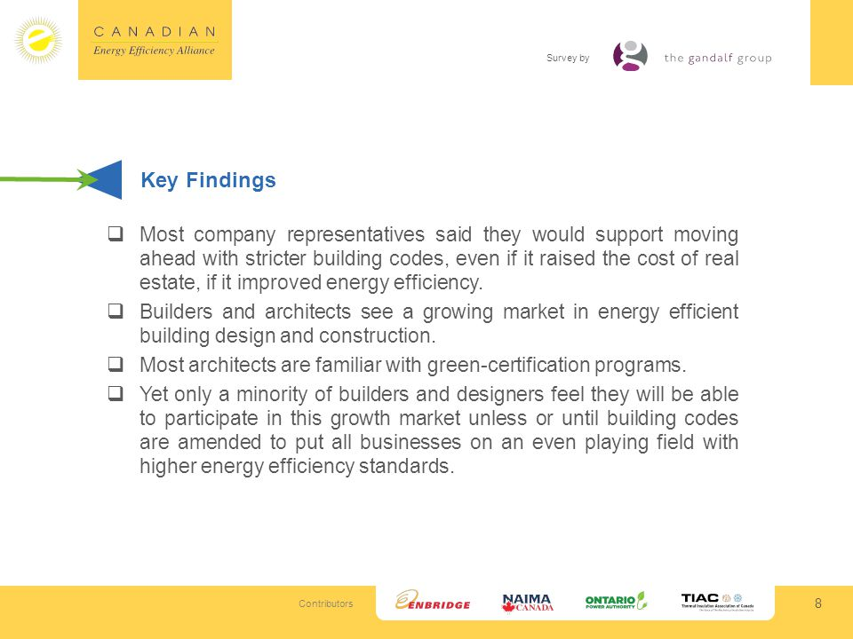 Contributors Survey by 19 What Companies Are Doing Despite the overwhelming concern and interest, there is much more companies can do when it comes to energy efficiency.