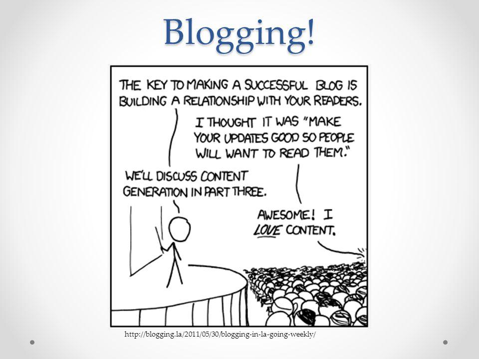 Blogging! http://blogging.la/2011/05/30/blogging-in-la-going-weekly/