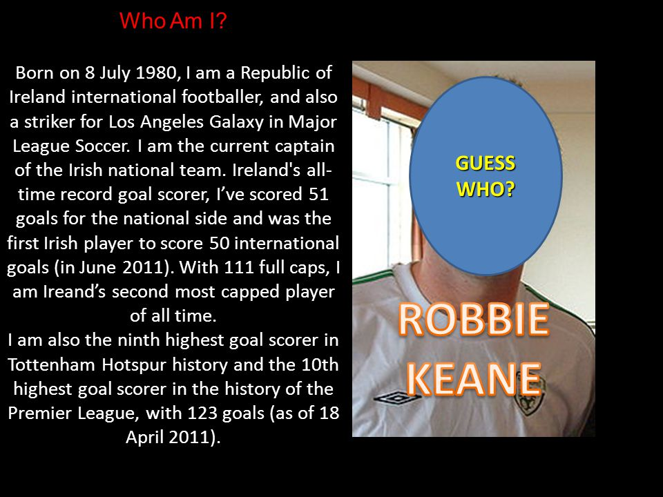 Who Am I. Born 10 February 1960, I am a newscaster with RTÉ in Ireland.